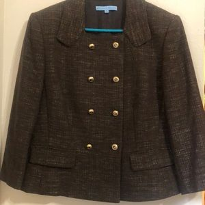 Antonio Melani Brown Tweed Suit- 2PC Size 12